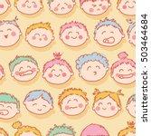 cute babies seamless pattern | Shutterstock .eps vector #503464684