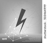 high voltage icon vector... | Shutterstock .eps vector #503464999
