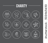 charity and donation icons made ... | Shutterstock .eps vector #503465650