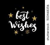 christmas calligraphy.... | Shutterstock .eps vector #503468356