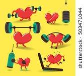 heart charactor vector design... | Shutterstock .eps vector #503471044