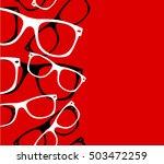 pattern retro hipster... | Shutterstock .eps vector #503472259