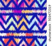ikat seamless pattern design... | Shutterstock . vector #503472319