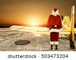 red santa claus and yellow... | Shutterstock . vector #503473204