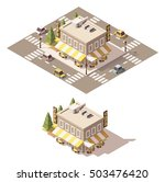 vector isometric low poly cafe | Shutterstock .eps vector #503476420