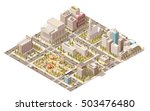 vector isometric low poly city | Shutterstock .eps vector #503476480