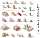 vector isometric low poly... | Shutterstock .eps vector #503476498