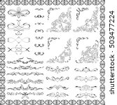 ornate design elements set is... | Shutterstock .eps vector #503477224