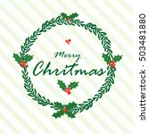 christmas card  christmas... | Shutterstock .eps vector #503481880