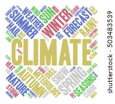 climate word cloud in shape of... | Shutterstock .eps vector #503483539