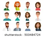 avatar  woman  man heads....   Shutterstock .eps vector #503484724