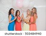 hen party. girl in the studio... | Shutterstock . vector #503484940