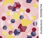abstract hexagon pattern.... | Shutterstock .eps vector #503486764