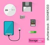 external storage   external... | Shutterstock .eps vector #503489203