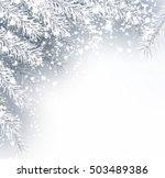 gray winter background with fir ...   Shutterstock .eps vector #503489386