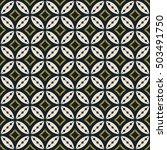 seamless geometric flower... | Shutterstock .eps vector #503491750