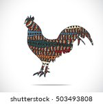 abstract colorful rooster.... | Shutterstock .eps vector #503493808