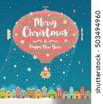 christmas vector greeting... | Shutterstock .eps vector #503494960