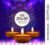 happy diwali colorful background | Shutterstock .eps vector #503499166