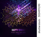 bright colorful diwali... | Shutterstock .eps vector #503499190