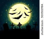 dark halloween vector... | Shutterstock .eps vector #503503984