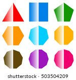 basic shapes with shine. set of ... | Shutterstock . vector #503504209