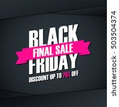 black friday sale. special... | Shutterstock .eps vector #503504374