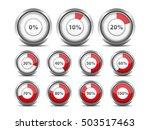 set of red round progress... | Shutterstock . vector #503517463