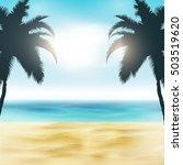 paradise beach illustration  ... | Shutterstock .eps vector #503519620