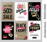 set of mobile sale banners.... | Shutterstock .eps vector #503521060