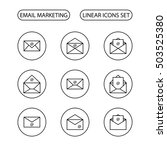 email marketing vector icons... | Shutterstock .eps vector #503525380