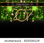 2017 happy new year background... | Shutterstock . vector #503530129