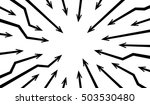 black radial concentric arrows... | Shutterstock .eps vector #503530480