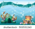 cartoon vector underwater... | Shutterstock .eps vector #503531263