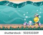 cartoon vector underwater...   Shutterstock .eps vector #503533309