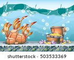 cartoon vector underwater... | Shutterstock .eps vector #503533369