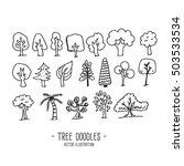 tree doodles  vector... | Shutterstock .eps vector #503533534