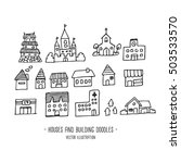 houses and building  doodles... | Shutterstock .eps vector #503533570