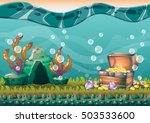 cartoon vector underwater... | Shutterstock .eps vector #503533600