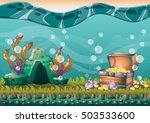 cartoon vector underwater... | Shutterstock .eps vector #503533600