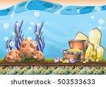 cartoon vector underwater... | Shutterstock .eps vector #503533633