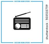 retro radio icon vector... | Shutterstock .eps vector #503533759