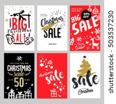 set of christmas and new year... | Shutterstock .eps vector #503537230