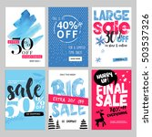 set of winter mobile sale... | Shutterstock .eps vector #503537326