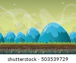 cartoon vector nature landscape ... | Shutterstock .eps vector #503539729
