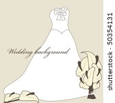 wedding background with dress... | Shutterstock .eps vector #50354131
