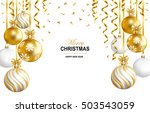 merry christmas and happy new... | Shutterstock .eps vector #503543059