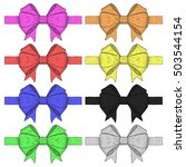 ribbon bows. colored set of... | Shutterstock .eps vector #503544154