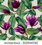 hand painted watercolor... | Shutterstock . vector #503544760