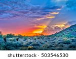 Dramatic Sunset In The Sonoran...